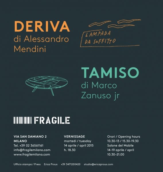 Fragile milano news deriva tamiso vernissage for Vernissage milano